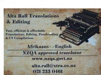 Translations AfrikaansEnglish